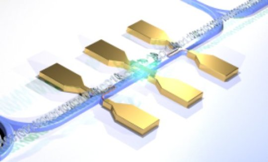 First quantum photonic circuit with an electrically driven light source