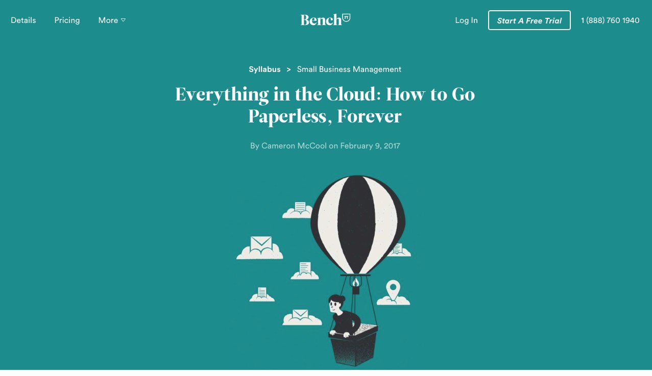 Bench Accounting Blog Post - Paperless Recordkeeping