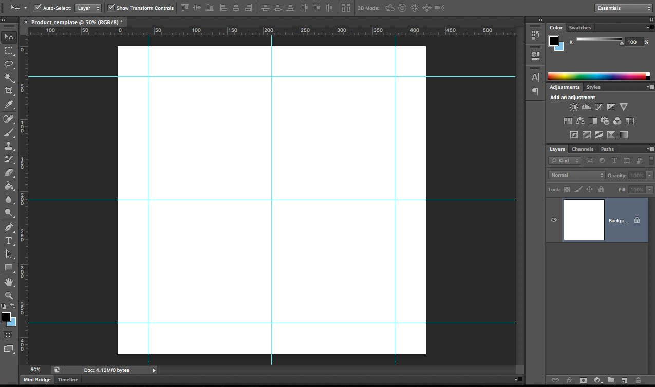 Create Product Image Templates in Photoshop