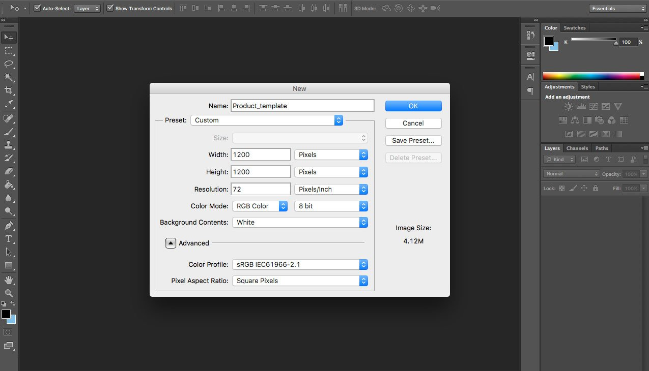 Create Product Image Templates in Photoshop 4
