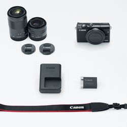 itech-dude-contents-HR_EOS_M100_BLACK_DOUBLELENS_KIT_CL Canon's new mirrorless camera is like an M5 in a smaller (and cheaper) body | iTech Dude - The Technology Blog