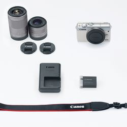 itech-dude-contents-HR_EOS_M100_WHITE_DOUBLELENS_KIT_CL Canon's new mirrorless camera is like an M5 in a smaller (and cheaper) body | iTech Dude - The Technology Blog