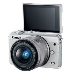 itech-dude-contents-HR_EOS_M100_WHITE_EFM15_45_3QBACKLCD_CL Canon's new mirrorless camera is like an M5 in a smaller (and cheaper) body | iTech Dude - The Technology Blog