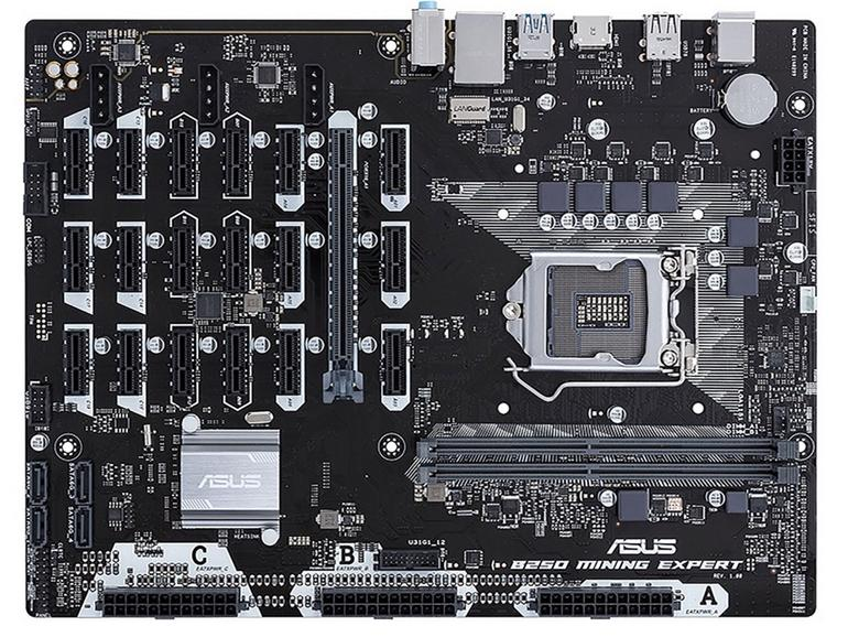 Asus unveils cryptocurrency mining motherboard that supports 19 GPUs