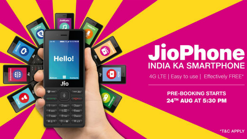 Jio Phone Features, Specifications Revealed: 128GB Expandable Storage, 2000mAh Battery, and More