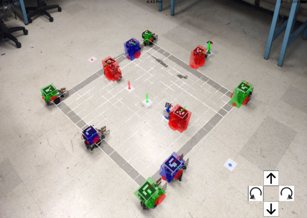Controlling Robot Swarms With Augmented Reality