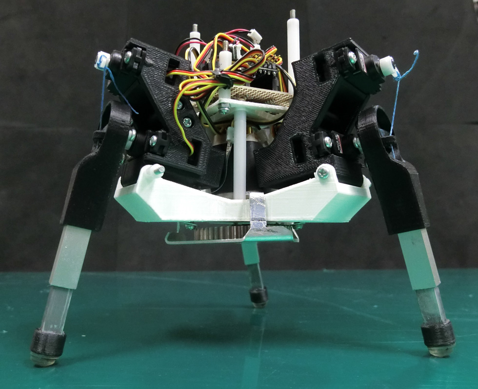 Martian-Inspired Tripod Walking Robot Generates Its Own Gaits