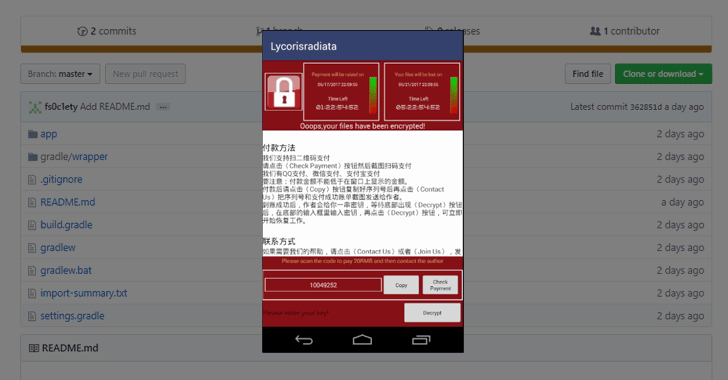 Source Code For SLocker Android Ransomware That Mimics WannaCry Leaked Online
