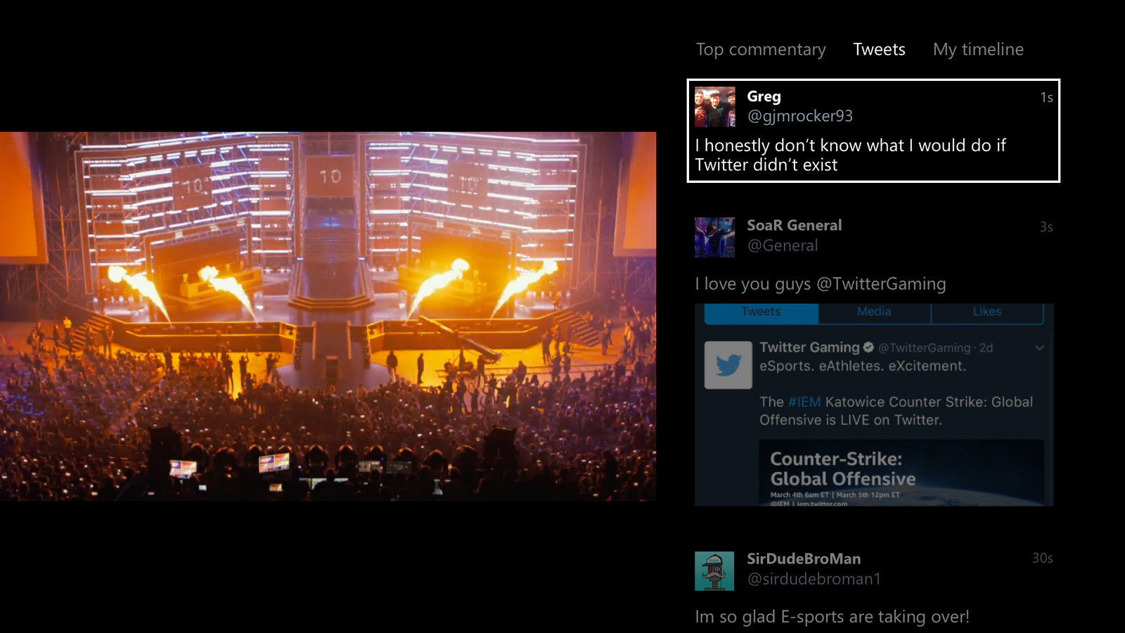 Twitter for Xbox One now lets you watch your timeline alongside videos