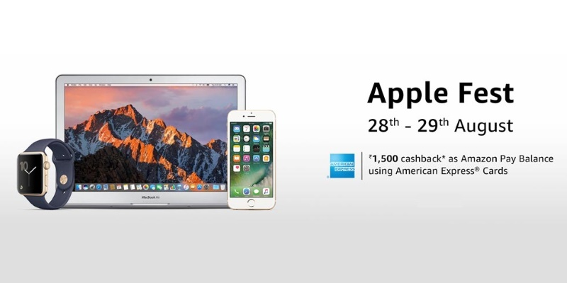 Amazon Apple Fest Offers iPhone 7, MacBook Pro & More With Cashbacks and Discounts