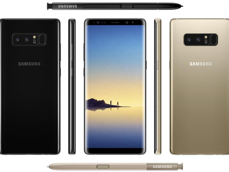 Galaxy Note 8 leaked renders and spy shots