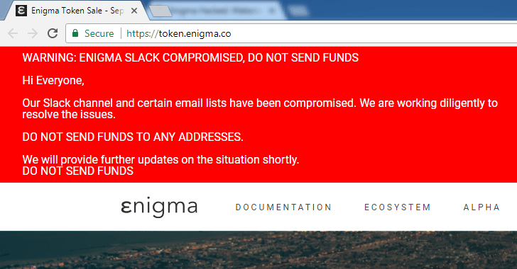 Warning: Enigma Hacked; Over $470,000 in Ethereum Stolen So Far