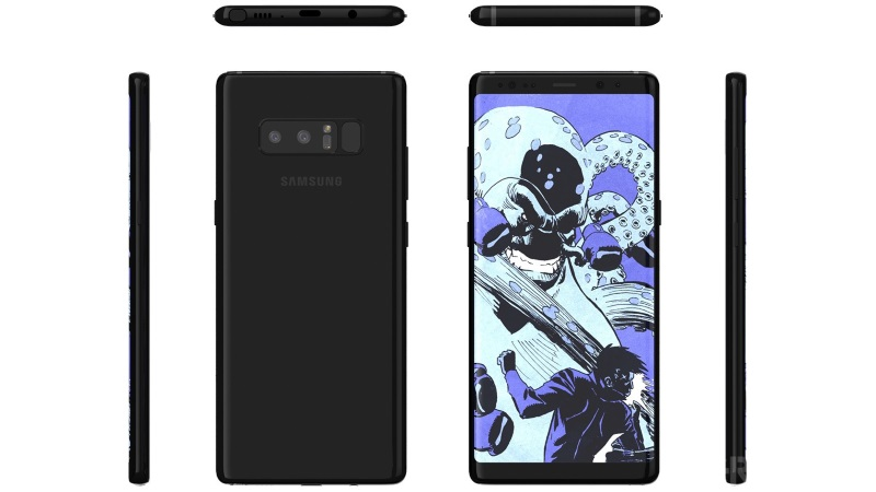 Samsung Galaxy Note 8 Renders Show the Handset From All Sides