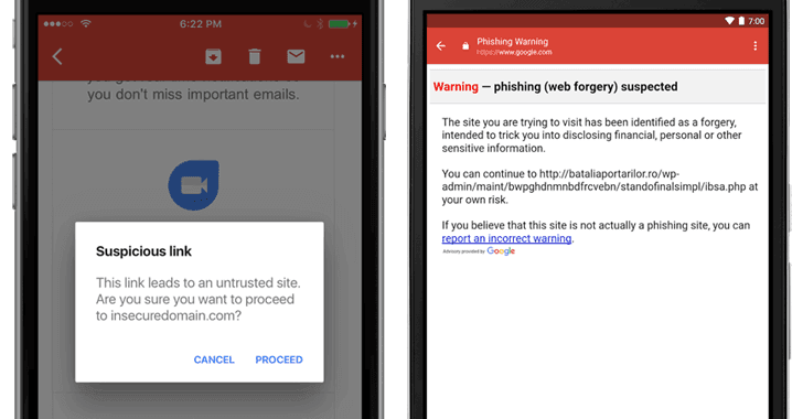 Gmail for iOS Adds Anti-Phishing Feature that Warns of Suspicious Links