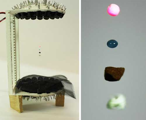 With a 3D-printed acoustic levitator you can levitate liquids and insects at home