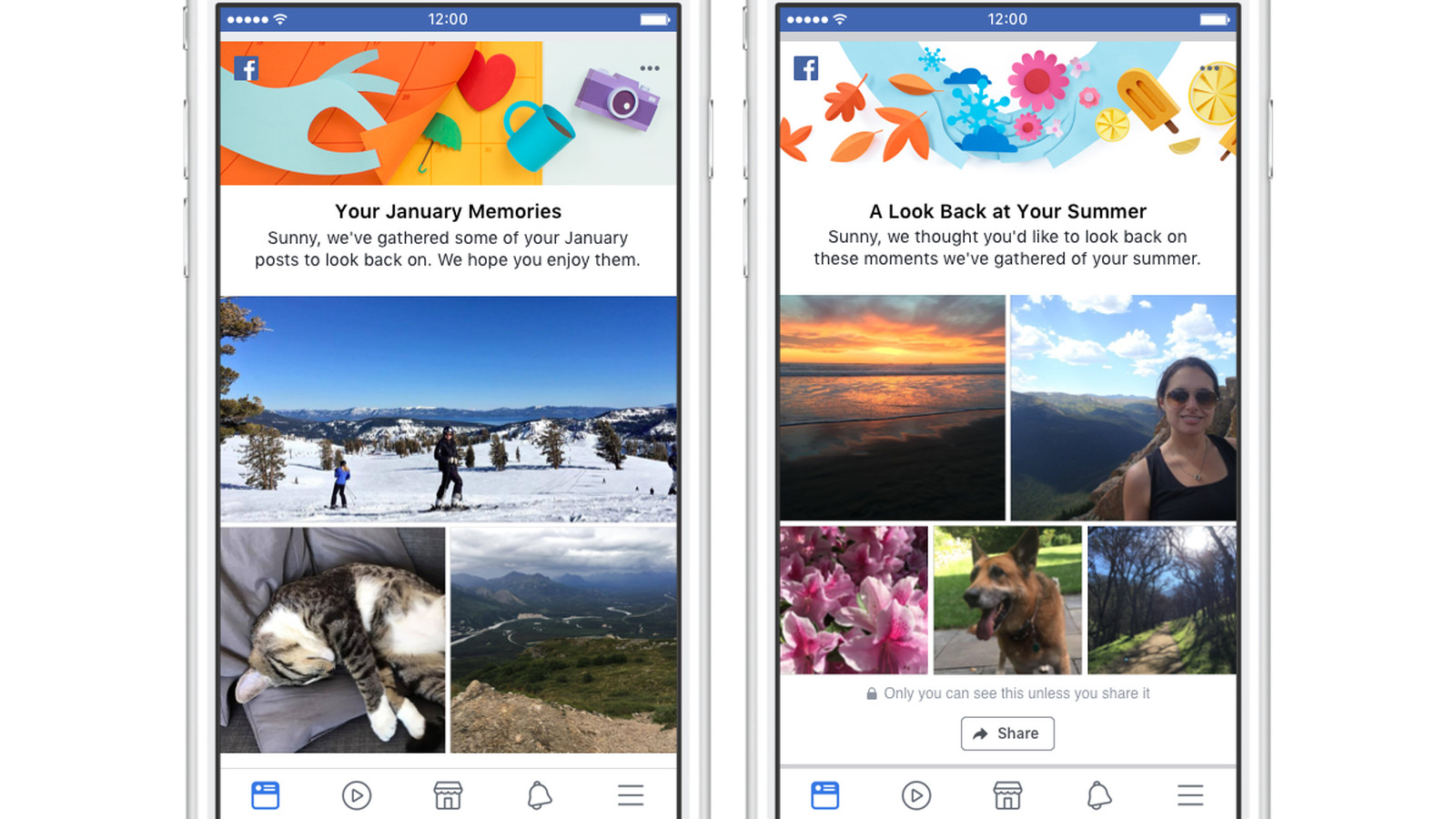 Facebook adds monthly and seasonal recaps to On This Day