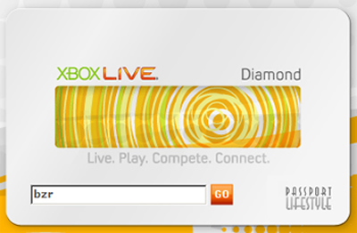 Xbox Live Diamond card adds a dash of exclusivity